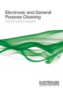 Electronic and General Purpose Cleaning Brochure